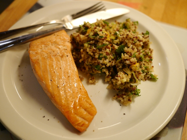 Salmon with Quinoa Salad